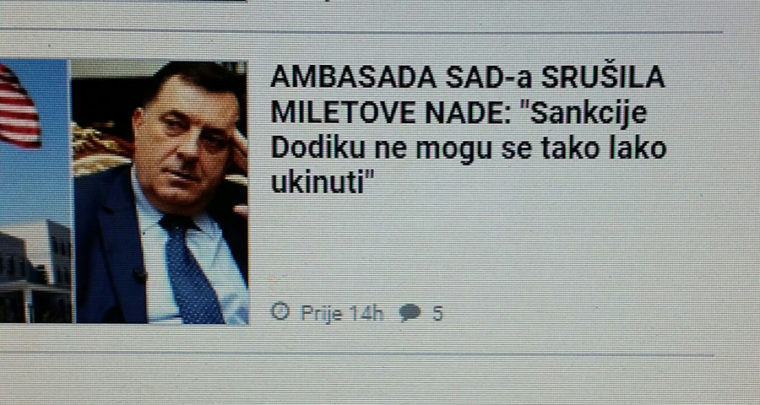 Nit je 'slobodna', nit' je 'Bosna'