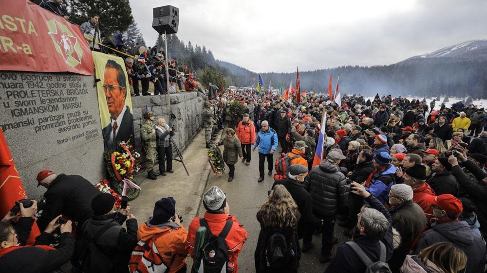 Sarajevo, BiH - 25. januar 2020:   Na planini Igman danas je održano obilježavanje 78. godišnjice